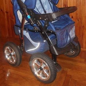 Продам коляску-трансформер сине-голубую Expander Vento. Б/у