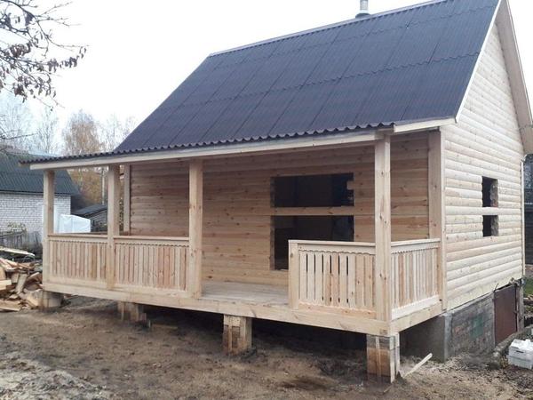 Строительство домов,  бань,  беседок из проф. бруса. Пинск 2