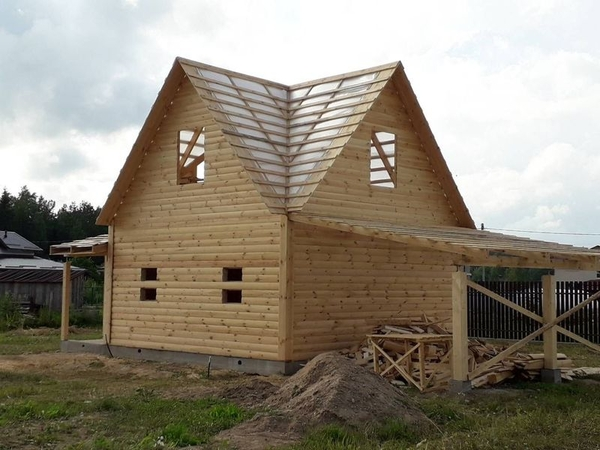 Строительство домов,  бань,  беседок из проф. бруса. Пинск 7
