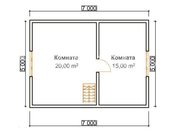 Каркасный Дом под ключ 7х8.5 м по проекту Вуокса 4