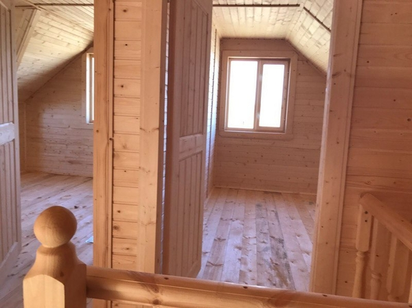 Каркасный Дом под ключ 7х8.5 м по проекту Вуокса 5