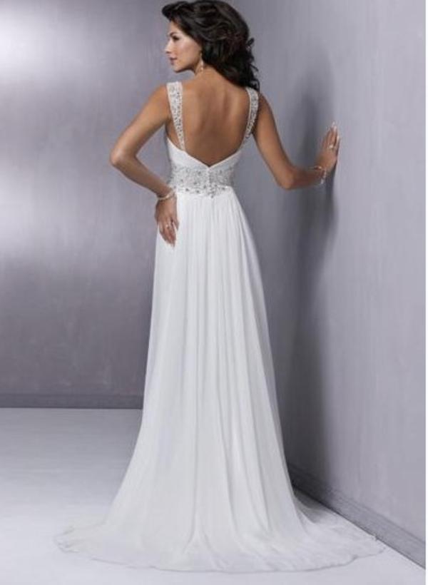 Элегантное свадебное платье  2